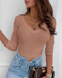 Блуза - код 9908 - пудра