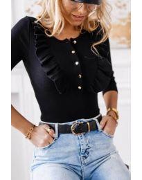Блуза - код 9792 - 3 - црна