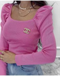 Блуза - код 2180 - 2 - розова