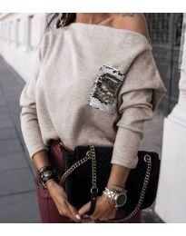 Блуза - код 377 - кремова