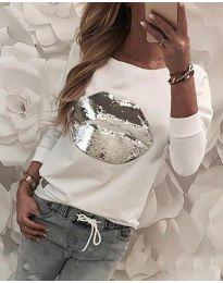 Блуза - код 3963 - бело