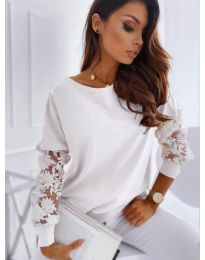 Блуза - код 4426 - бело