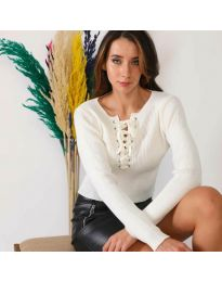 Блуза - код 6365 - бело